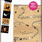 Kamio Japan Cat Song Letter Set with Stickers Kawaii