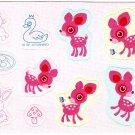 Sanrio Japan Deery Lou Pink Mini Sticker Sheet Kawaii