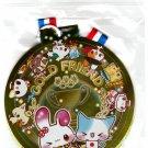 Crux Japan Gold Friend Medal-Shaped Sticker Pack Kawaii