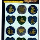 Sanrio Japan Holly's Bear Sticker Sheet 1997 Kawaii