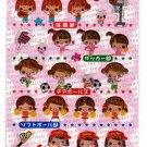 Crux Japan Hi! School Girl Club Epoxy Sticker Sheet Kawaii