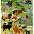 Kamio Japan Pet Animals Epoxy Sticker Sheet Kawaii