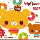 Crux Japan Happiness Bears Memo Pad with Postcard Kawaii