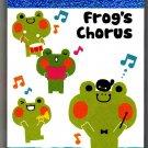 Kamio Japan Frog's Chorus Mini Memo Pad Kawaii