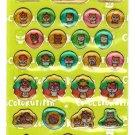 Sanrio Japan Kuririn Hamster Sticker Sheet 2002 Kawaii
