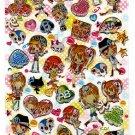 Crux Japan Girls Type Epoxy Sticker Sheet Kawaii