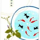 Hallmark Japan Gold Fish Postcard Book Kawaii