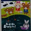 Q-Lia Japan Orange Sunshine Mini Memo Pad Kawaii