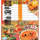 Crux Japan Fat Burger Letter Set with Stickers Kawaii