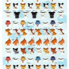Very Berry Japan A Lot Of Dogs Puffy Sticker Sheet Kawaii