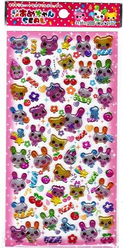 Q-Lia Japan Bunny and Friends Sticker Sheet Kawaii