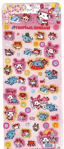 Q-Lia Japan Tropical Kousagi Sticker Sheet Kawaii