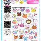 Q-Lia Japan Pop Up Faces Letter Set with Stickers Kawaii