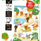 Kamio Japan Choco Choco Town Letter Set with Stickers Kawaii