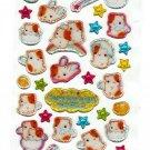 Q-Lia Japan Fuwa Hamu World Hamster Epoxy Sticker Sheet Kawaii