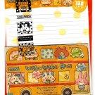 Crux Japan Waku Waku Bus Letter Set with Stickers Kawaii