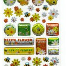 Q-Lia Japan Petite Flower Epoxy Sticker Sheet Kawaii