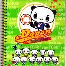San-X Japan Dapan Panda National Team Spiral Notebook Rare 2002 Kawaii