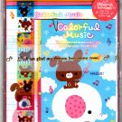 Wizard Japan Colorful Music Letter Set with Stickers Kawaii