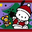 Sanrio Pochacco & Choppi Christmas Card with Envelope 1996 Kawaii