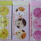 San-X Japan Sweet Face Pig Hamster Chick Block Erasers Lot of 3 2004 Kawaii