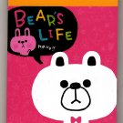 Kamio Japan Bear's Life Mini Memo Pad Kawaii
