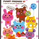 Kamio Japan Funny Friends Mini Memo Pad Kawaii