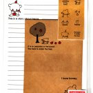 Daiso Japan Bear Story Letter Set with Stickers Kawaii
