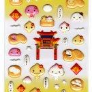 LamPlanning Manjuu Puffy Sticker Sheet Kawaii