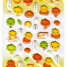 LamPlanning Mikan Chan Puffy Sticker Sheet Kawaii