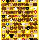 Mind Wave Japan Dog Faces Sticker Sheet Kawaii