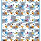 Very Berry Japan Lots of Clouds Sticker Sheet Kawaii