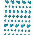 Active Japan Water Drops Clear Sticker Sheet Kawaii