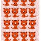 Sakura Japan Year of the Tiger Felt Sticker Sheet (A) Kawaii