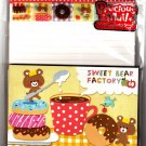 Kamio Japan Sweet Bear Factory Letter Set with Stickers Kawaii