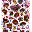 Crux Japan Hime Girls Epoxy Sticker Sheet Kawaii
