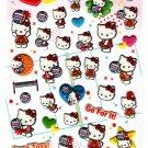 Sanrio Japan Hello Kitty Volleyball Puffy Sticker Sheet Kawaii