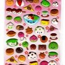 Kamio Japan Happy Food Puffy Sticker Sheet (B) Rare Kawaii