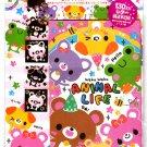 Kamio Japan Animal Life Letter Set with Stickers Kawaii