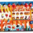 Kamio Japan Festival Food Puffy Sticker Sheet Kawaii