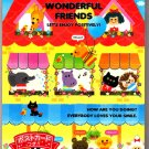 Kamio Japan Wonderful Friends Memo Pad Kawaii