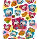 Kamio Japan Happy March Epoxy Sticker Sheet Kawaii