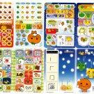 San-X Japan Mikan Bouya Mixed Characters Jumbo Sealdass Sticker Booklet by Bandai 2005 Kawaii