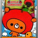 Kamio Japan Apple Kumachan Mini Memo Pad Rare Kawaii
