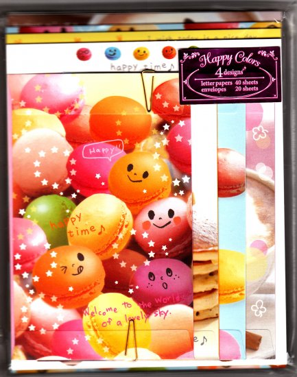 San-X Japan Happy Colors Happy Time Letter Set 2009 Kawaii