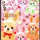 Q-Lia Japan Sugar Rabbit Mini Memo Pad (A) Kawaii
