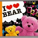 Kamio Japan I Love Bear Mini Memo Pad Kawaii