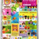 Kamio Japan Wonderful Friends Letter Set with Full Sheet of Stickers Kawaii