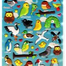 Q-Lia Japan World of Birds Puffy Sticker Sheet Kawaii