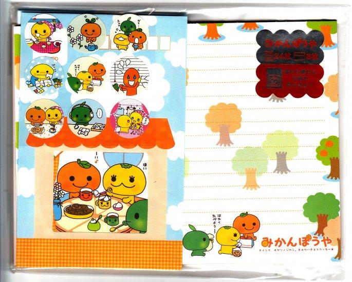 San-X Japan Mikan Bouya Letter Set with Stickers 2003 Rare Kawaii